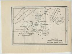 Chart of fishing grounds around Monhegan, 1887