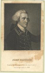 Engraving of Hancock from the Fogg Autograph Collection
