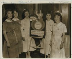 Mercy Hospital nursing students, Portland, 1961