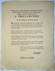Hardy's proclamation to the citizens of Moose Island, Eastport, 2014