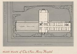 Plot plan for the new Mercy Hospital, Portland, 1941