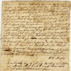 William Bayley letter to mother, Jean Bayley, from Continental Army