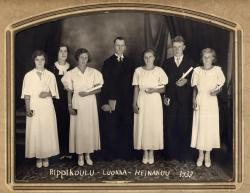 Finnish Church confirmation class, South Thomaston, 1933