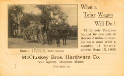 Taber Wagon advertisement