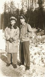 US officer and a German POW officer, Houlton, ca. 1944