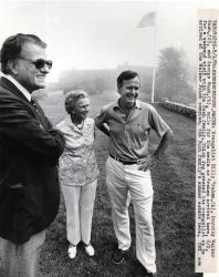 George Bush, Dorothy Walker Bush, Billy Graham, Kennebunkport, 1980