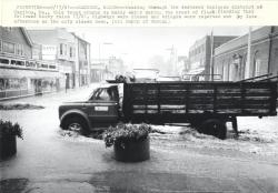 Flash flood, Caribou, 1981