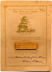 Longfellow Centennial Commemorative Card