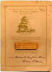 Longfellow Centennial Commemorative Card, ca. 1907