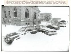 April blizzard, Portland, 1982