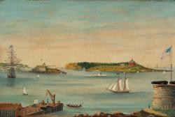 View of Portland Harbor, ca. 1853
