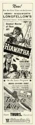 Hiawatha movie handbill, ca. 1952