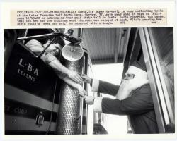 Santa at the toll booth, Falmouth, 1982