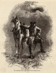 Illustration and poem, Paul Revere's Ride, c. 1880
