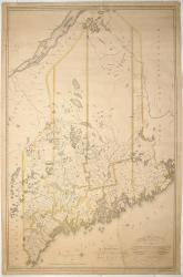 Moses Greenleaf's map of the District of Maine, 1815