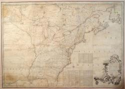 Map of the British and French North America, 1775