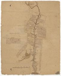 Plan of the Kennebeck River describing the Plymouth patent, ca. 1719