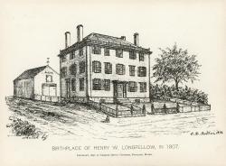 Birthplace of Henry Wadsworth Longfellow, 1896