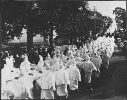 Ku Klux Klan procession, Portland, ca. 1923