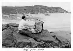 Bogy paints Manana, 1935