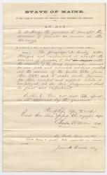 Act concerning females army nurses, 1861