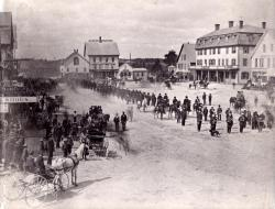 Grand Army of the Republic Parade, Houlton, 1889