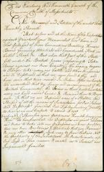 Letter requesting aid for losses to British, 1783