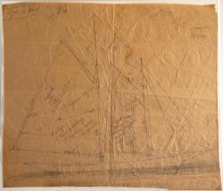 Sail plan drawn by Amos P. Lord, ca. 1930