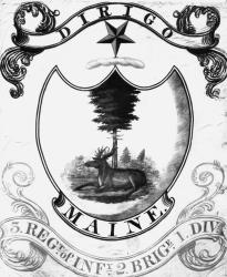 Third Maine Regiment Flag, ca. 1822