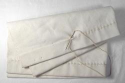 Hand-made canvas sail seam sample, 2003