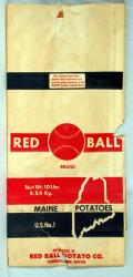 Red Ball Brand potato bag, Caribou, c. 1970