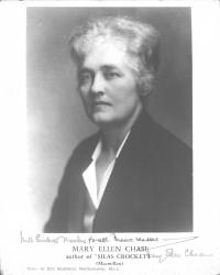 Mary Ellen Chase, author of Silas Crockett, ca. 1935