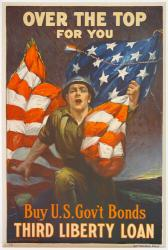 Over the top for you-Buy U.S. gov't bonds, World War I poster, 1918