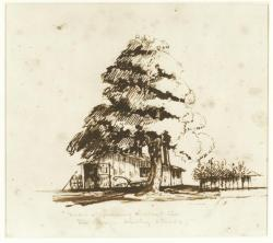 Sketch of The Village Smithy, Cambridge by Henry W. Longfellow