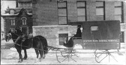 First ambulance, Eastern Maine General Hospital, 1900