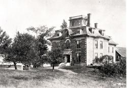 Bangor General Hospital with tent, ca. 1894