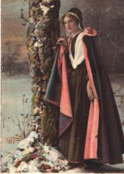 Evangeline in the Snow postcard