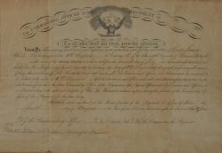 Promotion Certificate of James Phair