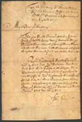 John Pyles land petition, ca. 1675