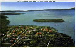 Bar Harbor and Bar Island, ca. 1930