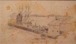 Sketch, Richardson's Wharf, 1829