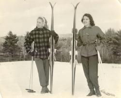 Skiers, Pleasant Mountain, ca. 1960