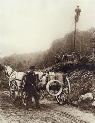 Electrical line crew, 1900