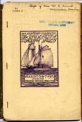 Pageant of Machias Valley program, 1913