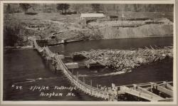 Wyman Dam Construction Footbridge
