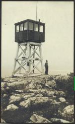 Sally Mountain fire tower, 1932
