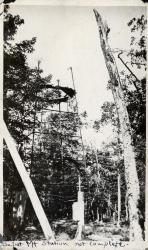 Construction, Depot Mountain lookout, ca. 1914