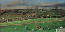 A Morning View of Blue Hill Village, 1824