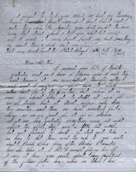 John M. Dillingham letter to mother, November 30, 1862