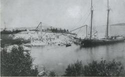 Ship at Crotch Island